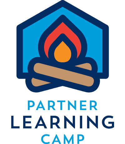 Partner Learning Camp logo of a campfire