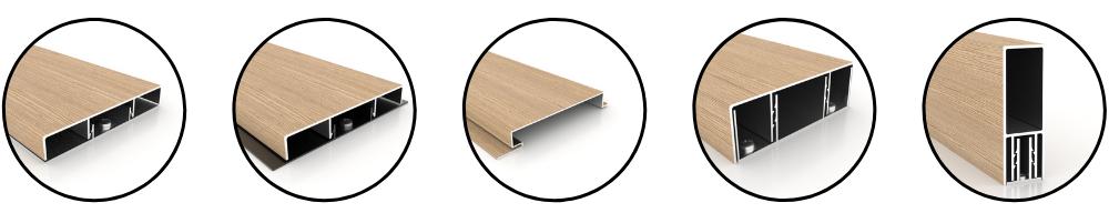 wood grain aluminum profiles custom avadek