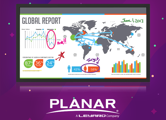Planar Lux70 Touch Interactive Large Format Display